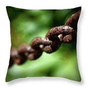 Along The Chain Throw Pillow