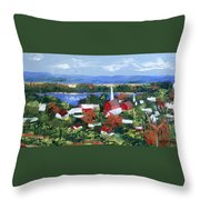 Along The Missouri  Throw Pillow by Anthony Falbo
