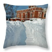 Along The Path To The Church Throw Pillow