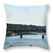 Along The Schuylkill River At Strawberry Mansion Throw Pillow