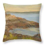 Along The Sound Shore Throw Pillow