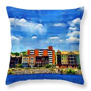 Along The Tennessee River In Decatur Alabama Throw Pillow