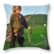 Along The Viking Trail Throw Pillow