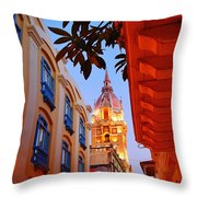 Along The Watchtower Throw Pillow by Skip Hunt