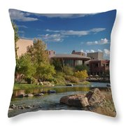 Along The Wild Horse River Throw Pillow