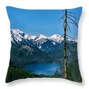 Alp See Lake In Bavaria Germany Throw Pillow