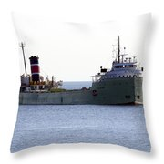 Alpena Ship Throw Pillow