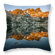 Alpenglow At Upper Sardine Lake Throw Pillow