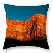 Alpenglow In Zion Canyon Throw Pillow
