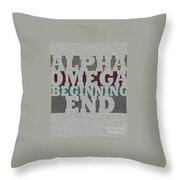 Alpha Omega Beginning End Throw Pillow