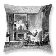 Alphonse De Lamartine Throw Pillow