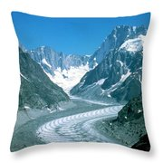Alpine Glacier Throw Pillow