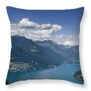 Alpine Lake And Mountains Throw Pillow