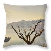 Alpine Lake With Islands Throw Pillow