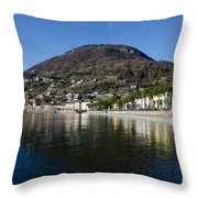 Alpine Village Reflected In The Lake Throw Pillow