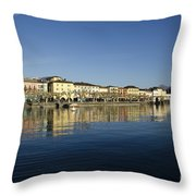Alpine Village Reflected In The Water Throw Pillow
