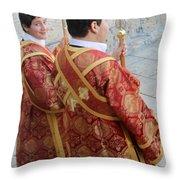 Altar Boys Throw Pillow