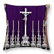 Altar Dresdener Hofkirche Throw Pillow by Christine Till