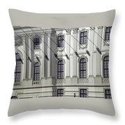 Alte Bibliothek Throw Pillow