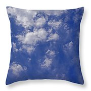Alto Cumulus With Ice Throw Pillow
