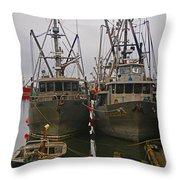 Aluminum Fishing Boats Throw Pillow