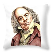 Alun Armstrong Plays Jeremiah Flintwich Throw Pillow