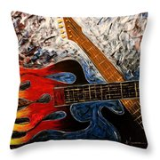 Always About Music Throw Pillow