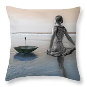 Always Looking To The Light Throw Pillow