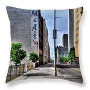 Am And As Downtown Buffalo Vert Throw Pillow