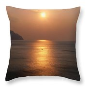Amalfi Sunset Throw Pillow