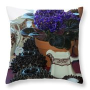 Amazing Still Life Scenes At Ron's In Grover Beach Ca Throw Pillow