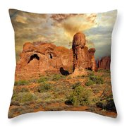 Amber Arches Throw Pillow
