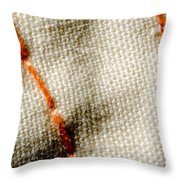 Amber Stitch Study Of Threads Up Close Throw Pillow