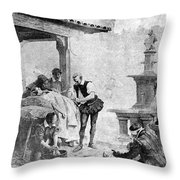 Ambroise Par�, French Surgeon, Pioneer Throw Pillow