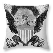 America: Coat Of Arms Throw Pillow