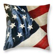 America Flag Throw Pillow