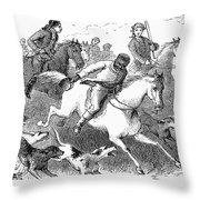 America: Fox Hunt Throw Pillow