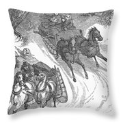 America: Sleighing, 1858 Throw Pillow