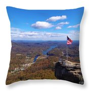 America The Beautiful Throw Pillow by Crystal Joy Photography