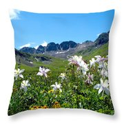 American Basin Columbines Throw Pillow