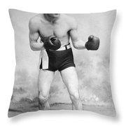 American Boxer, C1912 Throw Pillow