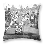American Boxing, 1859 Throw Pillow