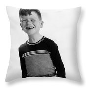 American Boy Throw Pillow