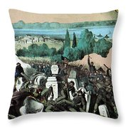 American Civil War, Battle Of Baton Throw Pillow