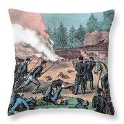 American Civil War, Battle Of Cold Throw Pillow