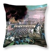 American Civil War, Capture Of Atlanta Throw Pillow