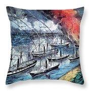 American Civil War, Farraguts Fleet Throw Pillow