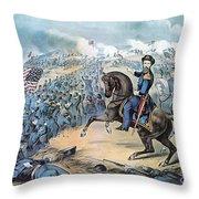 American Civil War, Storming Of Fort Throw Pillow