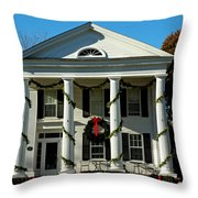 American Colonial Architecture Christmas  Throw Pillow