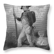 American Continental Soldier Throw Pillow